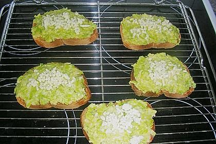 Lauch - Käse - Toast 3