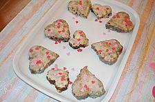 Brownie - Herzen mit M & Ms