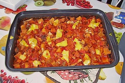 Süßkartoffel - Hähnchen - Auflauf 11