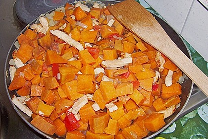 Süßkartoffel - Hähnchen - Auflauf 14
