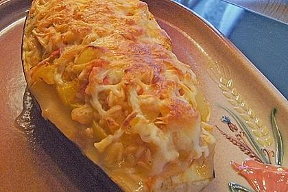 Aubergine mit Reisfüllung und Käsekruste 3