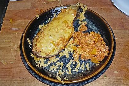 Aubergine mit Reisfüllung und Käsekruste 5