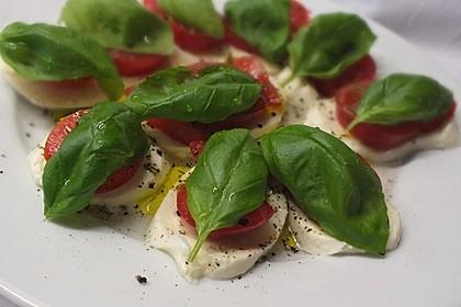 Einfacher Tomate - Mozzarella - Salat