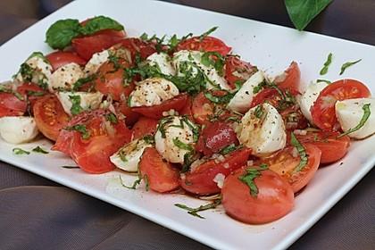 Einfacher Tomate - Mozzarella - Salat 1