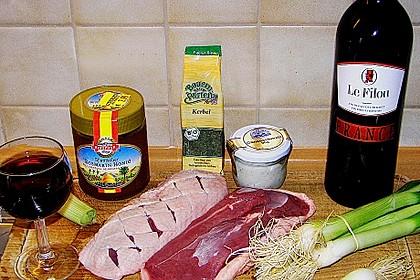 Entenbrust in pikanter Rotweinsauce 1