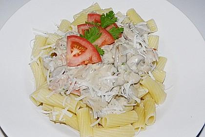 Champignon - Käse - Sauce auf Spaghetti 3