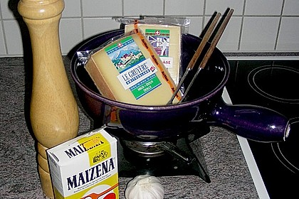 Käsefondue mit dreierlei Käse 1