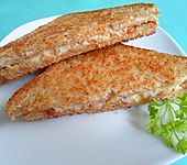 Gebratens Brot mit Käse