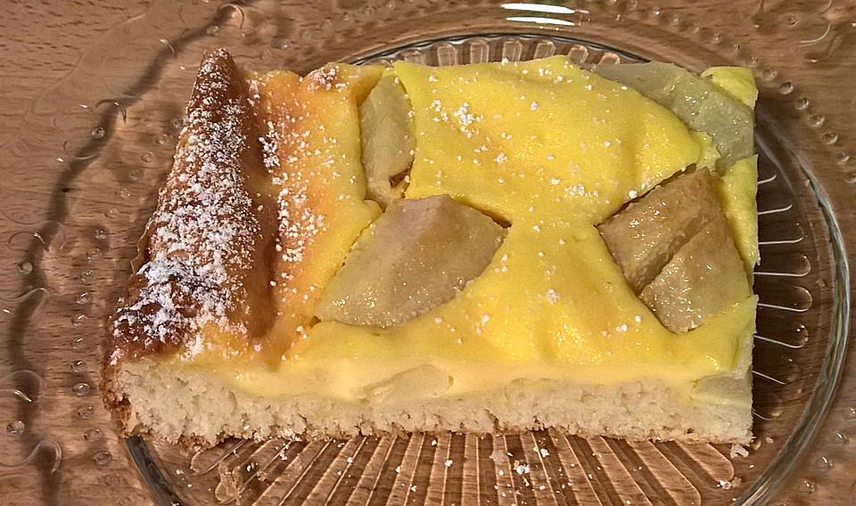 Birnen schmand kuchen vom blech