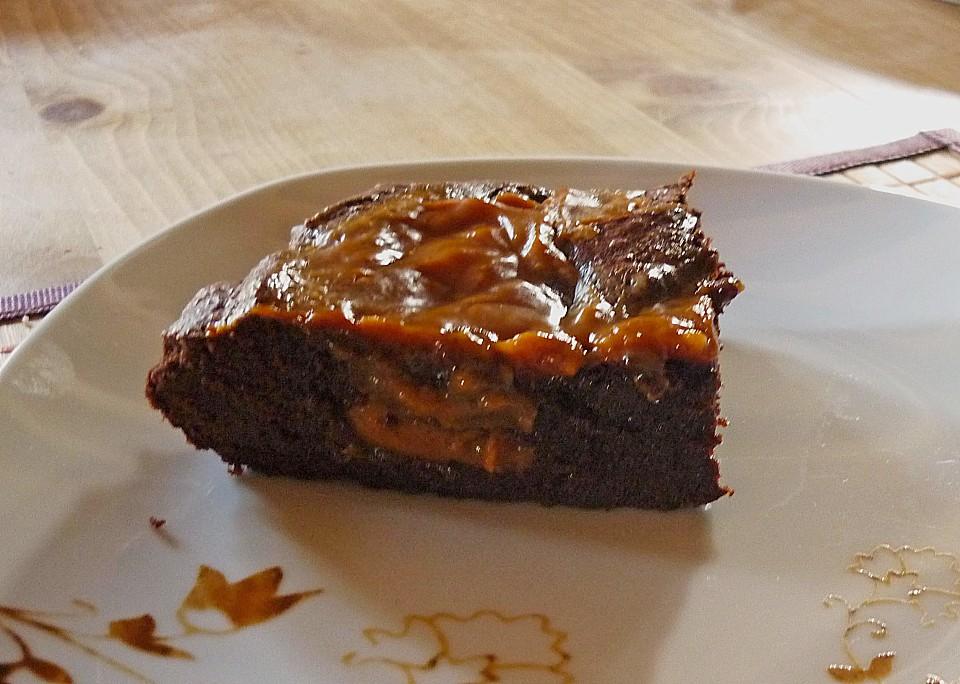 dulce de leche brownies rezept mit bild von kas uk. Black Bedroom Furniture Sets. Home Design Ideas