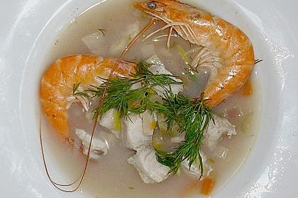 Fischsuppe mit Wurzelgemüse