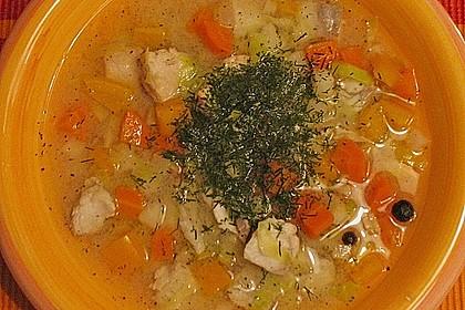Fischsuppe mit Wurzelgemüse 5