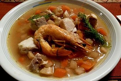 Fischsuppe mit Wurzelgemüse 2