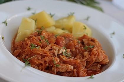 Rezeptbild zum Rezept Hühnchen mit Sauerkraut