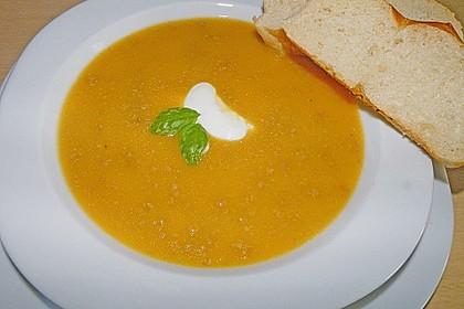 Karottensuppe mit Hackfleisch 1
