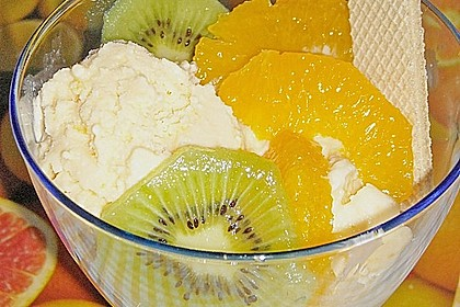 Orangeneis mit Joghurt