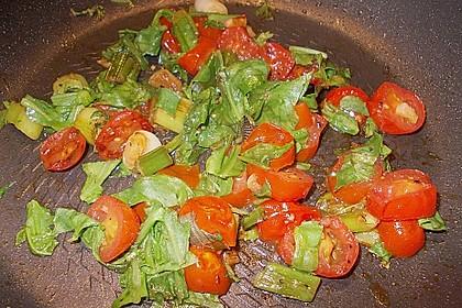 Penne mit Rucola und Tomaten 6