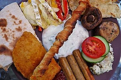 Gegrillte Teigspieße mit Bacon und Knoblauch 8