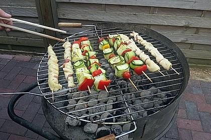 Gegrillte Teigspieße mit Bacon und Knoblauch 14
