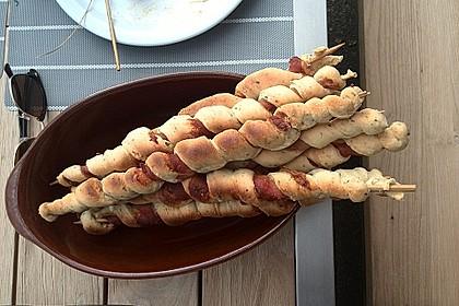 Gegrillte Teigspieße mit Bacon und Knoblauch 4