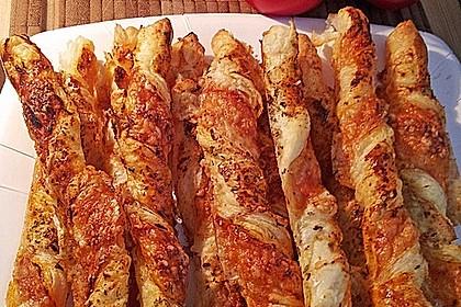 Käsestangen aus Blätterteig 5
