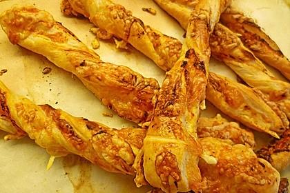 Käsestangen aus Blätterteig 34