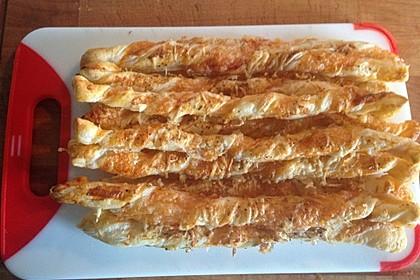 Käsestangen aus Blätterteig 14