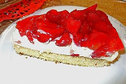 Erdbeerkuchen mit Vanillecreme 56