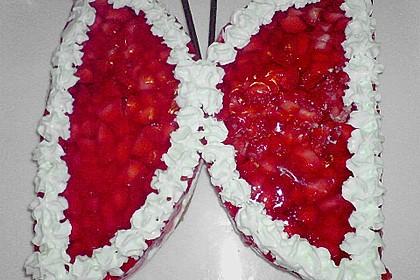 Erdbeerkuchen mit Vanillecreme 10