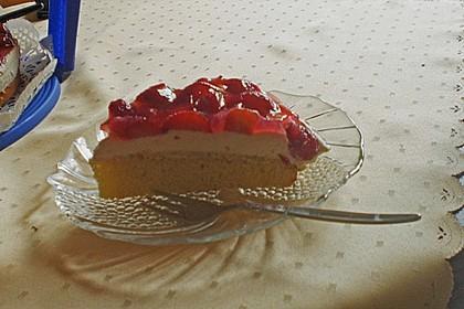 Erdbeerkuchen mit Vanillecreme 105