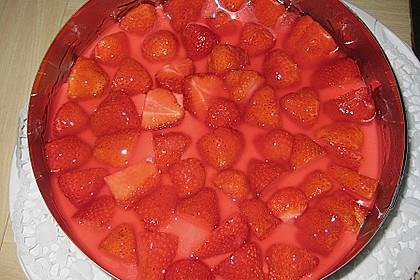 Erdbeerkuchen mit Vanillecreme 96