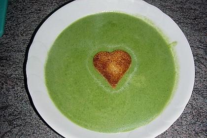 Spinat - Erbsen - Cremesuppe 3