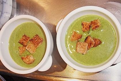 Spinat - Erbsen - Cremesuppe 4