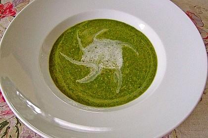 Spinat - Erbsen - Cremesuppe 6