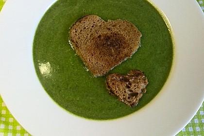 Spinat - Erbsen - Cremesuppe 7