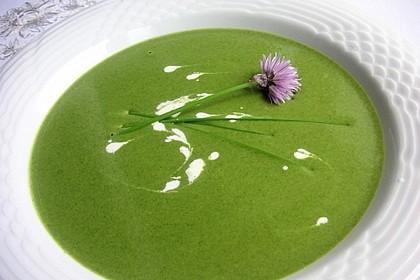 Spinat - Erbsen - Cremesuppe