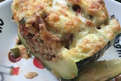 Zucchini mit Hackfleisch - Reis - Füllung 19