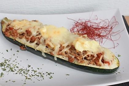 Zucchini mit Hackfleisch - Reis - Füllung 11