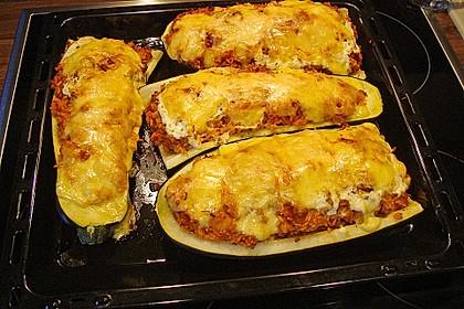 Zucchini mit Hackfleisch - Reis - Füllung 5