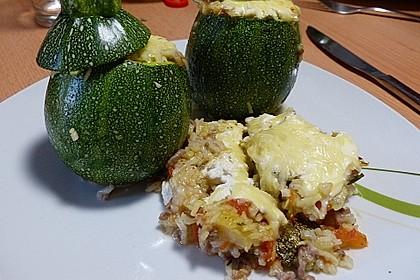 Zucchini mit Hackfleisch - Reis - Füllung 10