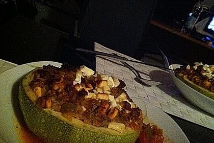 Zucchini mit Hackfleisch - Reis - Füllung 12