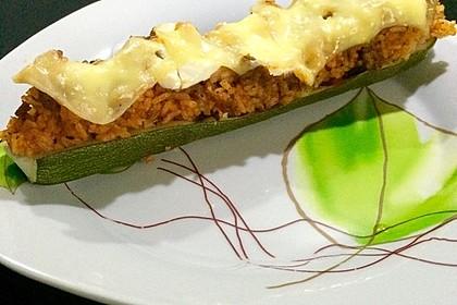 Zucchini mit Hackfleisch - Reis - Füllung 15