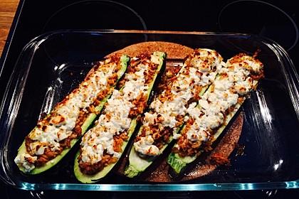 Zucchini mit Hackfleisch - Reis - Füllung 2
