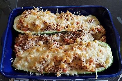 Zucchini mit Hackfleisch - Reis - Füllung 14