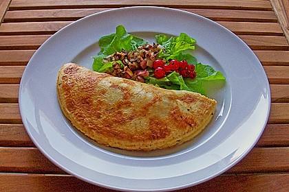 Omelette mit Dörrfleisch und Käse