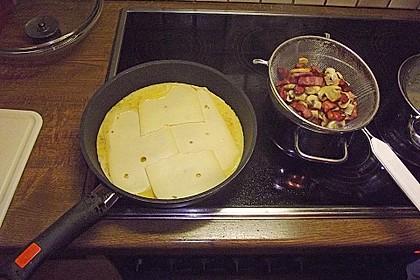 Omelette mit Dörrfleisch und Käse 2