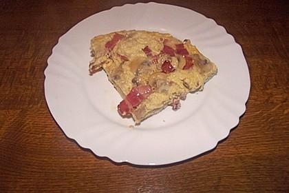 Omelette mit Dörrfleisch und Käse 1