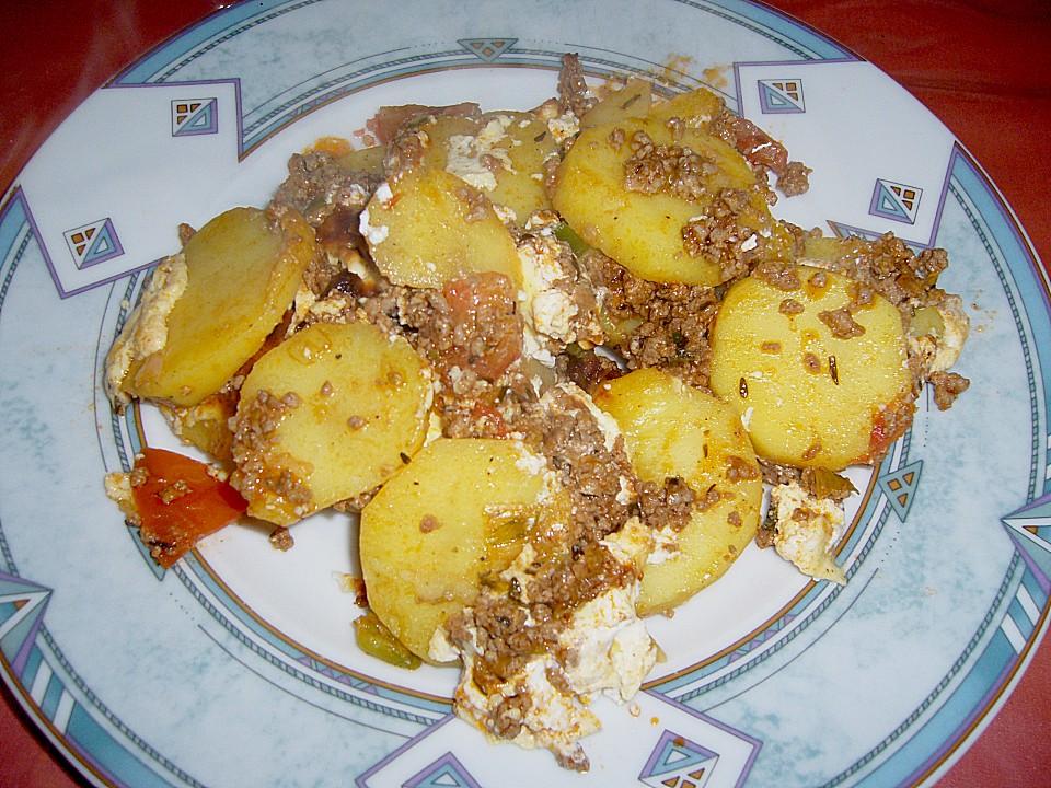 Rezept auflauf hack kartoffeln