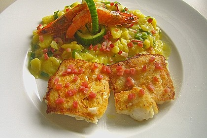 Maischolle auf Kartoffel - Bärlauch - Salat 1