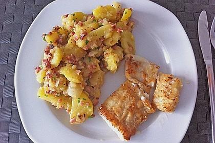 Maischolle auf Kartoffel - Bärlauch - Salat 4